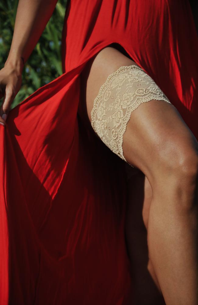 Bandaletky béžové krajkové Onyx