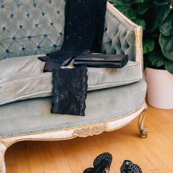 Bandaletky černé krajkové Dolce