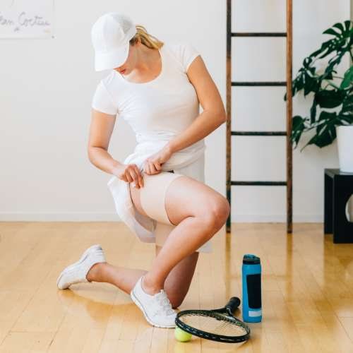 Bandaletky ochrana stehen při sportu
